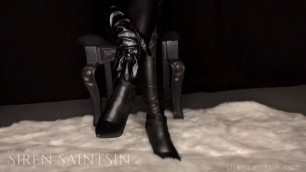 Leather Boot Worship and JOI with Hot Femdom MILF - Pornhub