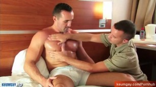 A Sexy Mature Sport Trainer get Sucked by my Assistant in Spite of him !