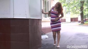 Pregnant Future Mommy Marta Started to Give Birth on the Street