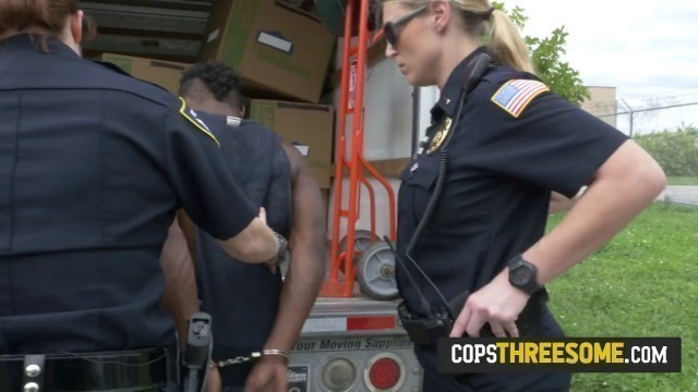 Cop with fat ass gets hard fucked by black dude after getting arrested. Join us