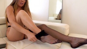 Kianna Dior Watch Me Put On These Hot Af Silk Stockings