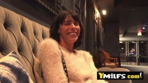 Horny MILF is having multiple orgasms during a wild fuck with a stranger.