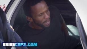 Handsome criminal jamming his wiener deep into police sluts
