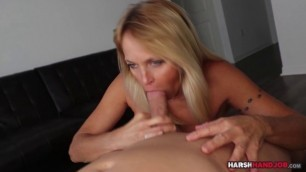 Cum fountain for busty blonde cougar