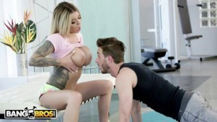 BANGBROS - Karma RX Uses Her Lovely Big Tits To Motivate Lucas Frost
